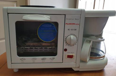 2 in 1 coffee maker, toaster