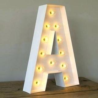 Lighted Marquee Letter A(Alphabet)