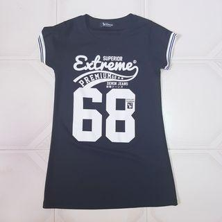 🧡INSTOCK Jersey like black T Shirt Dress