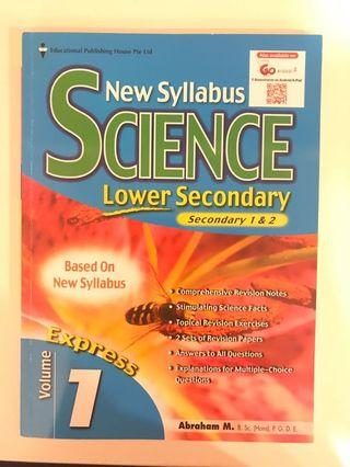 science lower secondary express exercise book