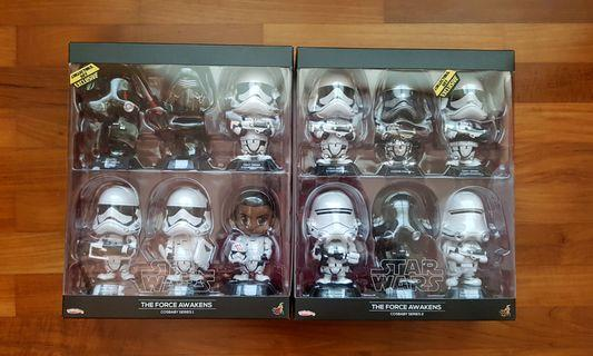 Star wars force awakens cosbaby series 1 and 2 set