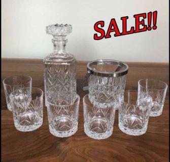 "High end ""CRISTAL D'ARQUES' Crystal Ware Set from Paris"