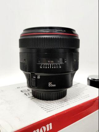 Canon 85mm 1.2L Mark ii USM