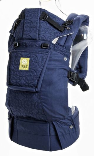 d41f416e80e Lillebaby Complete Embossed Navy Blue Baby to Toddler Carrier with 2sets of  Drool Pads