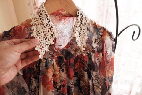 Chiffon Flower (baju kerja)