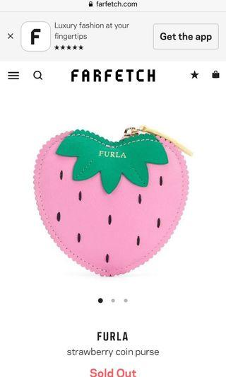 Furla strawberry coin purse