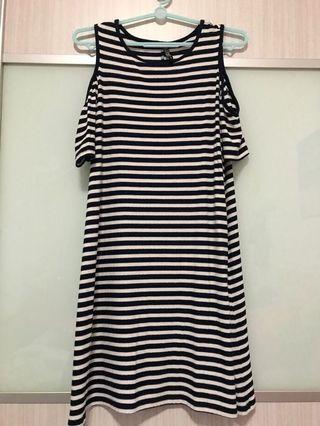 Cotton On Striped Dress Off Shoulder Cold Shoulder Maternity Dress