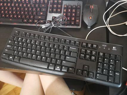 [清位平放市價75hkd]Logitech k120 keyboard 鍵盤