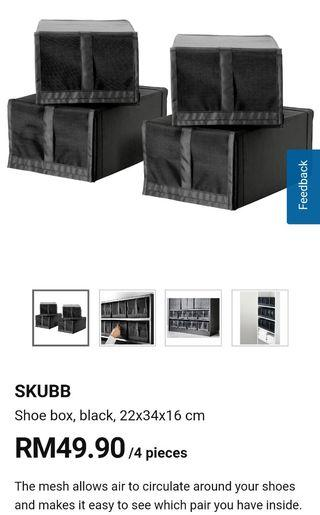 IKEA Skubb Shoe Box