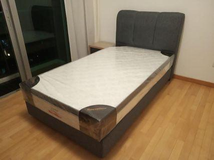 Super Single bed frame and mattress