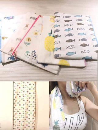🚚 外銷日本🇯🇵的加長運動紗布巾  尺寸:35x90  款式隨機出貨  一條💰80 三條💰200