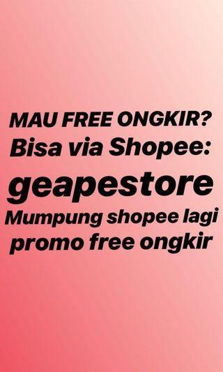 Freeongkir via shopee