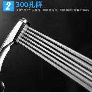 全新300孔超强增壓式花洒淋浴喷頭方形手持花洒增壓慳水花洒