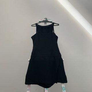 🚚 Ice Tan Black Cut Out Dress