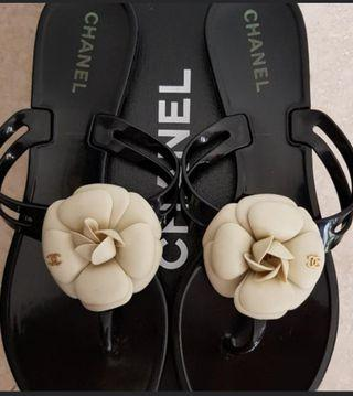 ede040c86073 As NEW Authentic Chanel Camellia Sandals Thong