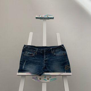 🚚 EVISU Reworked Denim Shorts