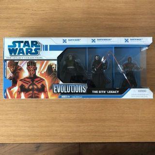 Star Wars Legacy Collection Evolutions Sith Legacy Darth Maul Rare Figure Box Set 星球大戰絕版玩具