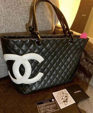 💎Chanel Cambon Tote Bag in Calf Leather💎
