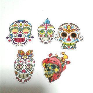 Sugar Skulls Sticker Label
