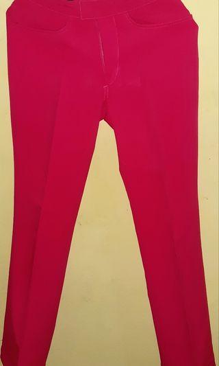 Celana Panjang warna merah fanta