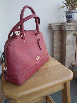 Coach mini sierra satchel Red