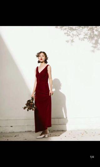 🚚 級新特價🉐️正紅修身長裙  #半價衣服拍賣會