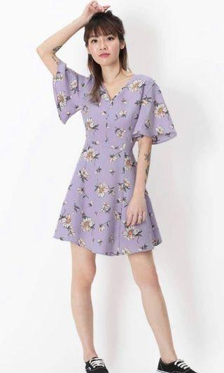 🚚 AFA Viola Flora Dress in Lilac