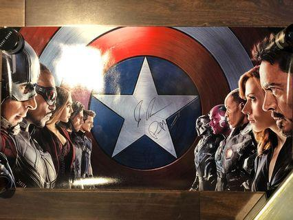 Avengers 親筆簽名 復仇者聯盟 Signed Robert Downey Jr, Tom Holland, Paul Betteny, Director Joe Russo, Producer Patricia Whitcher Spider-Man Iron Man Vision Endgame Infinity War Civil War Marvel Hot Toys Collector must have item