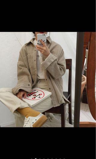 🚚 燈芯絨長袖襯衫外套