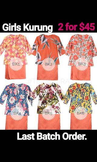 ORDERS CLOSED (Cotton Poly Baju Kurung )