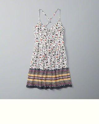 🚚 【Abercrombie&Fitch】(A&F kids) 花卉洋裝/連身裙