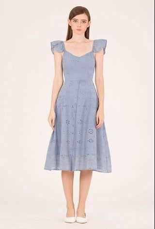 Doublewoot DAMIEXUFA midi dress (PALE BLUE)