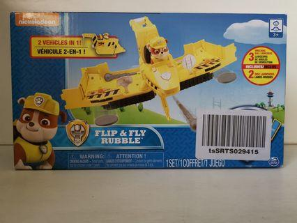 Brand new in box Nickelodeon Paw Patrol Flip & Fly Rubble 2 in 1 vehicles
