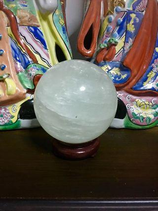 "4"" White Crystal Ball #EndgameYourExcess"