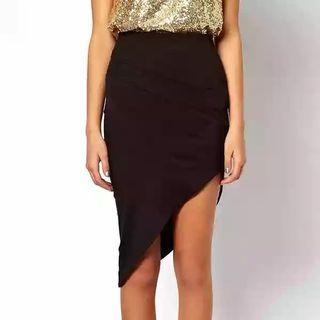 🚚 Black Slit Skirt