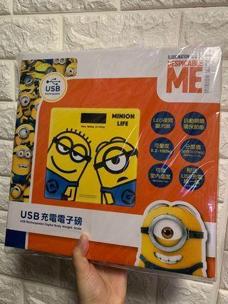 Minions USB 充電電子磅