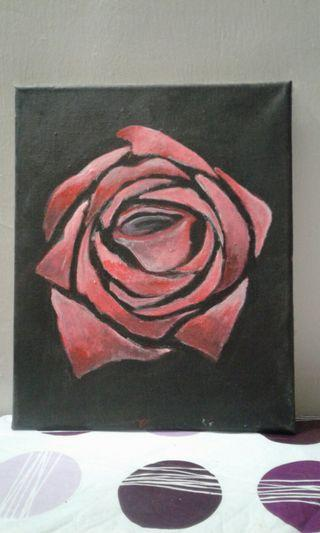 Graphical rose painting