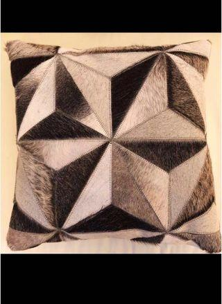 Brand new Cowhide leather mosaic cushions