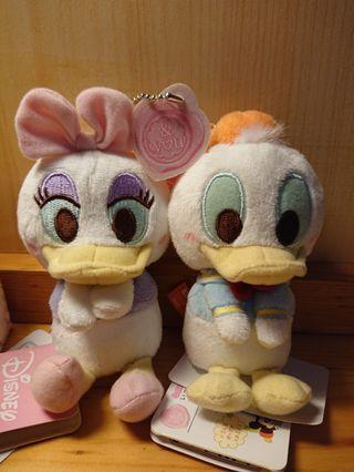 Donald Duck & Daisy 鎖匙扣公仔 (唐老鴨&黛絲)