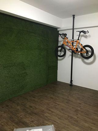 Bicycle hanging pole