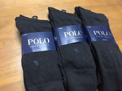 出清中 polo Ralph Lauren 紳士襪 西裝襪 小馬襪 長襪 黑色 彩點