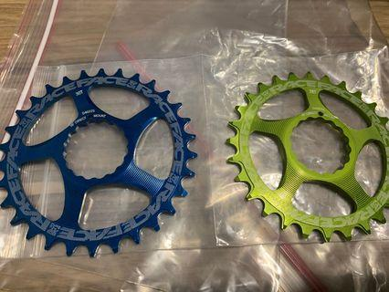 Brand new unused Raceface direct mount chainring 28t and 30t