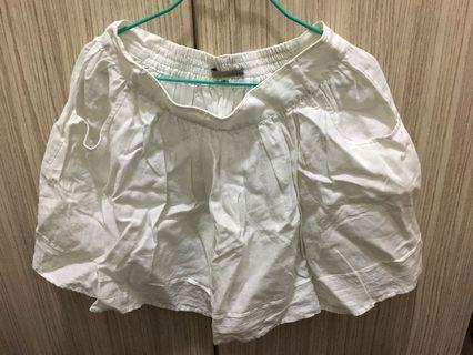 River island size 8 white mini skirt