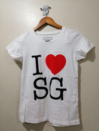 Giordano I ❤️ SG Tee