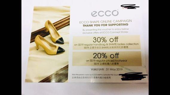 Free 免費 Ecco coupon 折扣 優惠券 現金券 discount coupon 手袋 鞋
