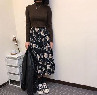 🚚 大花朵 半身裙