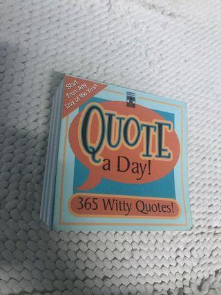 Quote a day book