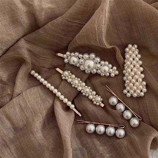 珍珠髮夾巴洛克復古髮飾瀏海夾一字夾