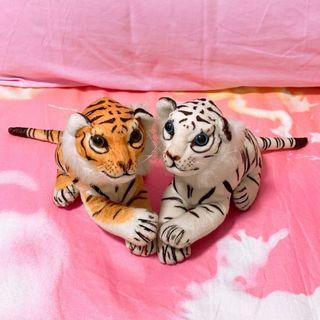 🚚 Brown and white tigers stuffed toy