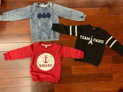 Boy jumper x 3 - all 110 size